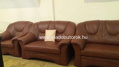 Ágyazható bőr kanapé ülőgarnitúra 3+2+1
